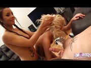 Teen girls play spin the bottle with blowjobs