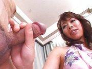 Japanese girl blowjob working