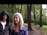 Russian amateur video camera in the woods on