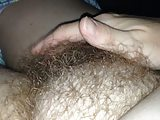my hairy wife stroking her own hairy pussy