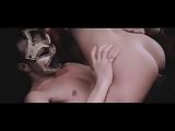 Hot blonde MILF fucked by man in the mask