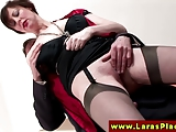 European MILF in stockings gets fucked