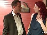 French redhead milf gets banged