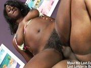 Hot Ebony Fucked On Her Hairy Pussy