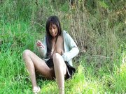 Ebony teen public nudity