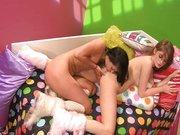 Słodkie młode lesby