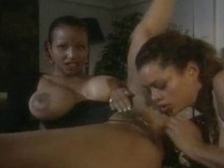 Black MILFS licking pussy